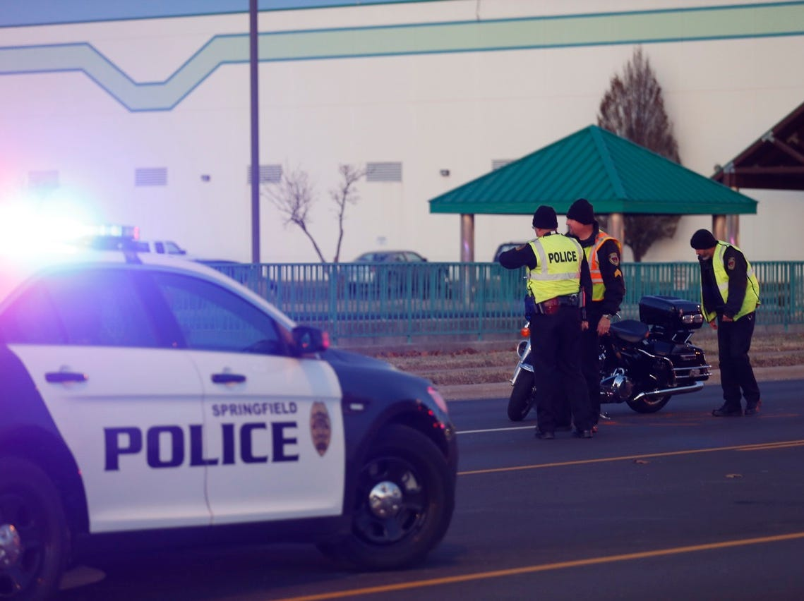 A Springfield Police Department  motorcycle was involved in an accident Wednesday, Nov. 28, 2018 on Battlefield Road  just west of Kansas Expressway.