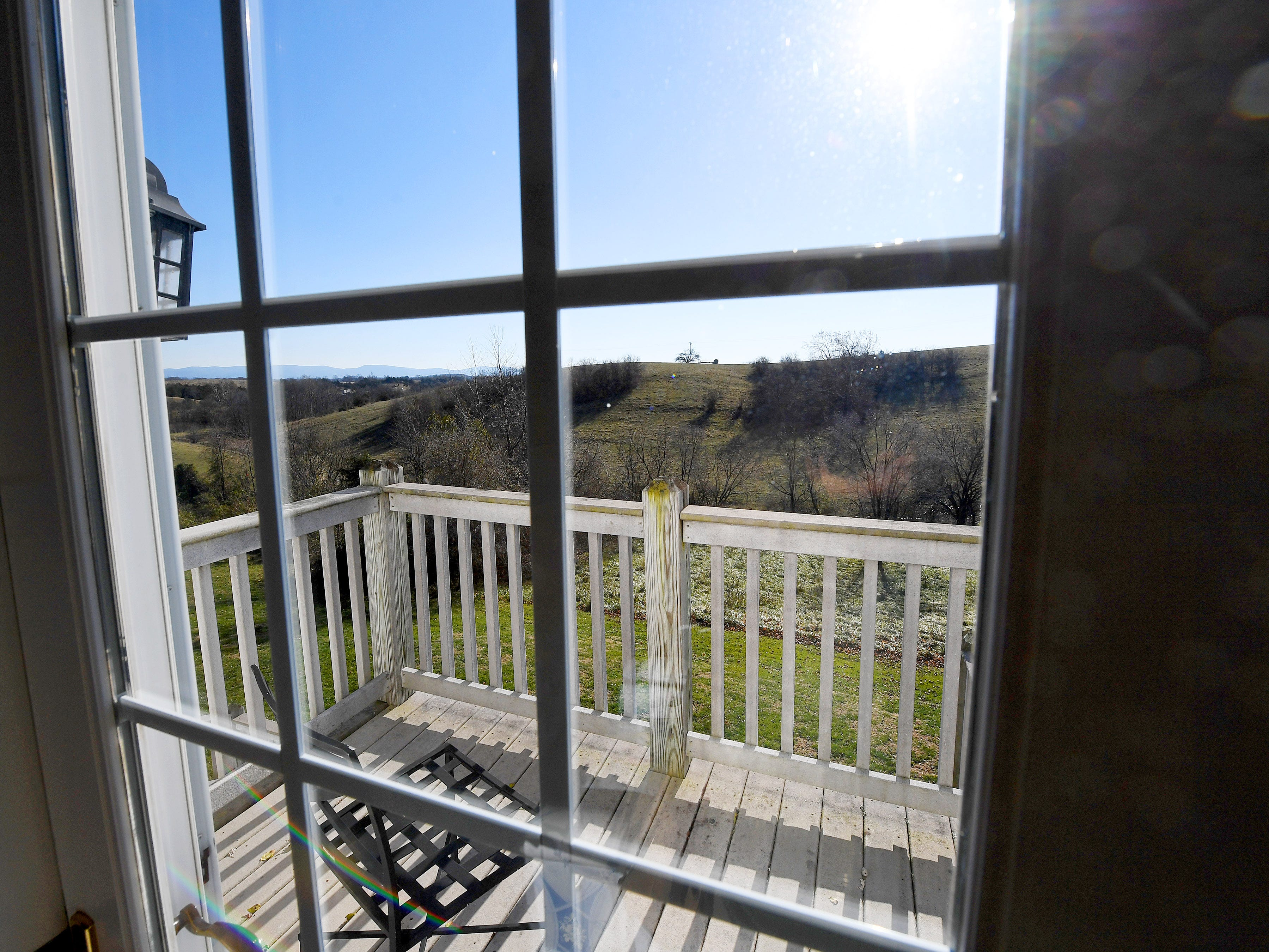 View from the Somerset room in the Millstone Barn at the Inn at WestShire Farms in Staunton.