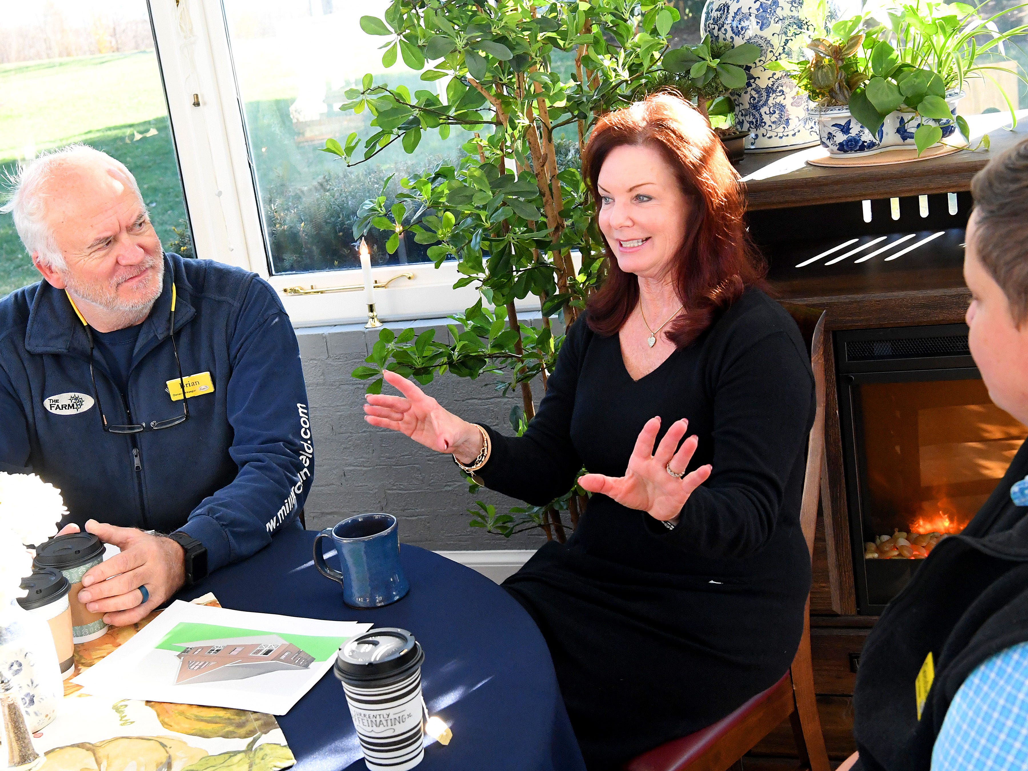 Co-owner and innkeeper Katherine Rook talks about plans for the inn, sitting next to co-owner and fellow innkeeper  Brian Westenberg, during an interview at the Inn at WestShire Farms in Staunton on Wednesday, Nov. 28, 2018.