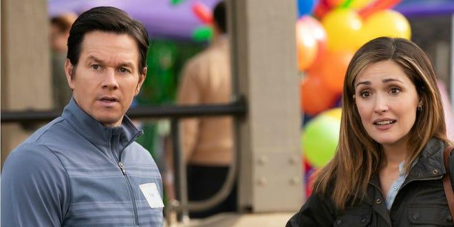 "Mark Wahlberg, left, and Rose Byrne star in ""Instant Family."""