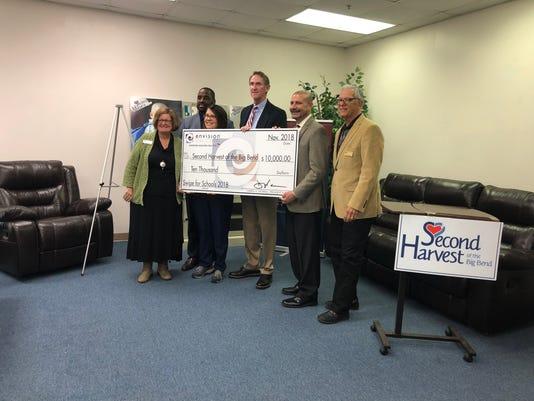 Envision credit union donates 10 000 to second harvest for America s second harvest
