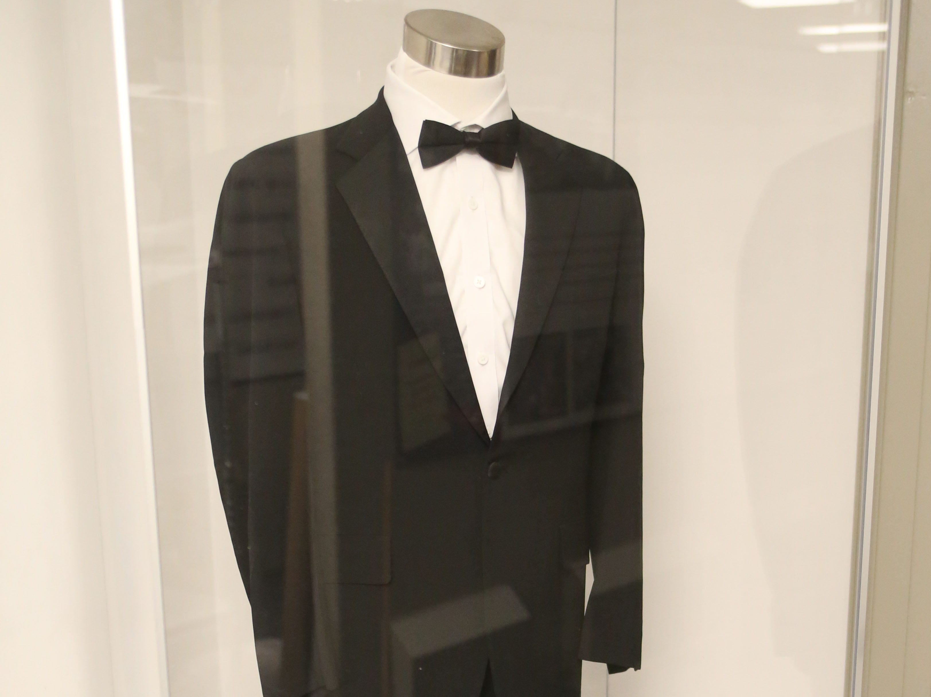 The Tallahassee historic Capitol hosts an exhibit on inaugurations of years past, Wednesday, Nov. 28, 2018. Displayed is former governor,  Bob Martinez's tuxedo which he wore to the inaugural ball.
