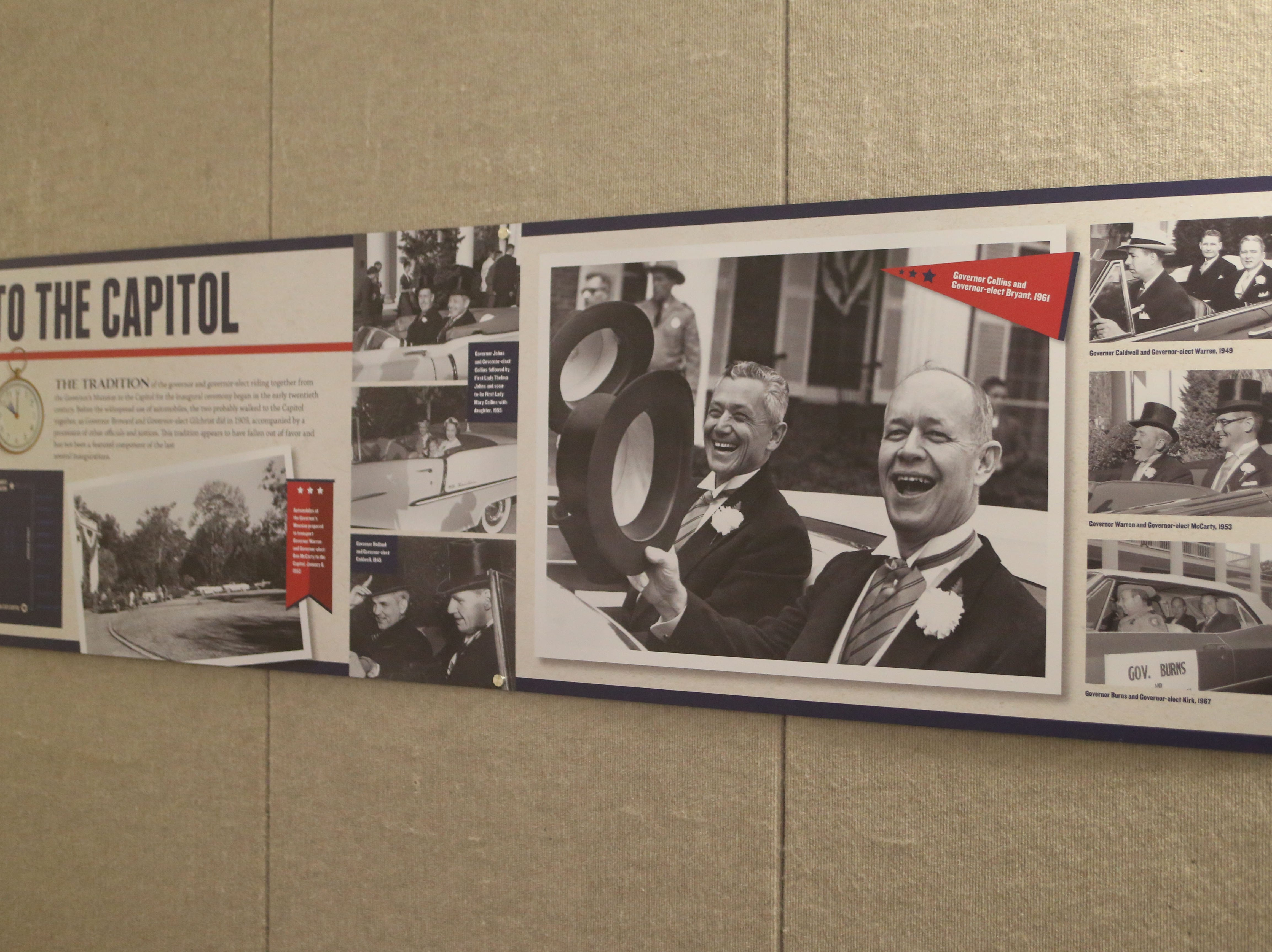 The Tallahassee historic Capitol hosts an exhibit on inaugurations of years past.