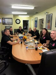 Local first responders enjoy a free meal at Century 21 All Professional.