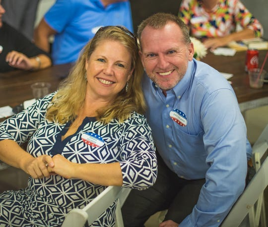 Debbie and Phil DeLange, owner of Pak Mail and White Glove Moving and Storage, attended the Meet & Greet Event at Twisted Oak Farms.