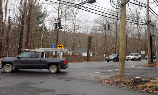 Traffic Route 117 And Roaring Brook Road