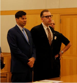 Christian Walczyk, 22, right, of LaGrangeville is sentenced Nov. 28, 2018, to 14 years in prison by Westchester County Judge Barry Warhit for the May 2017 road rage stabbing death of Daniel Siino of Mount Pleasant on the Taconic State Parkway.