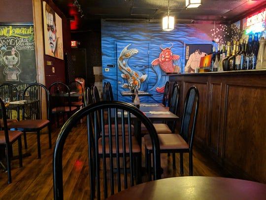 Inside Sakura Sushi Piano Bar.