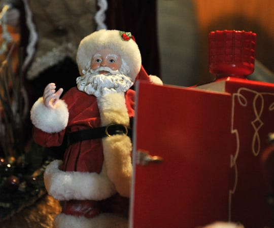 In this file photo, a miniature Santa Claus was one-of-several Christmas decoration displayed at a home during the 2018 annual Christmas Tour of Homes.