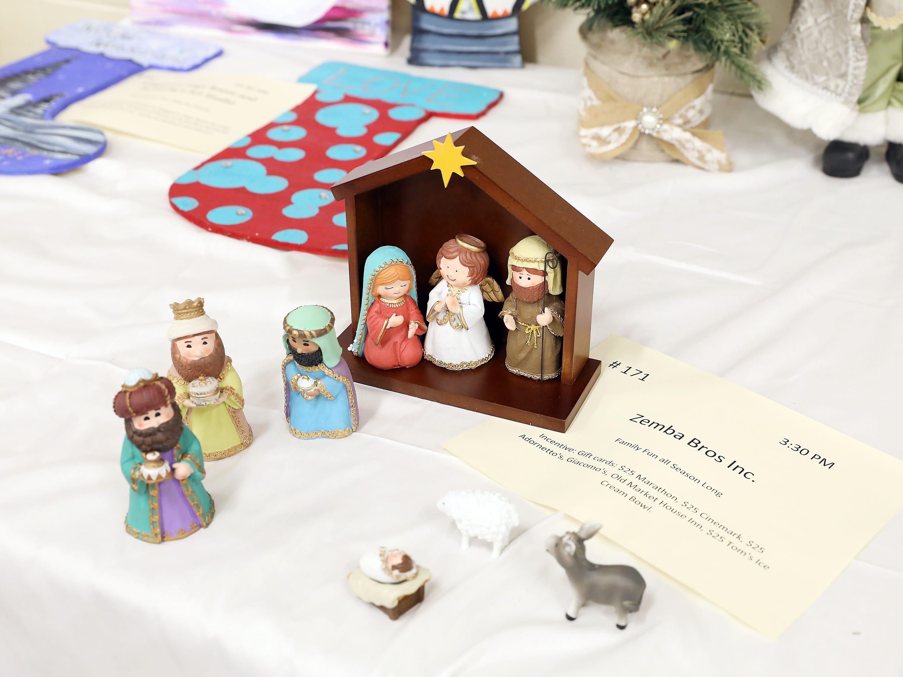 1713:30 PMZemba Bros Inc.OtherFamily Fun all Season LongChildren's Nativity setGift cards: $25 Marathon, $25 Cinemark, $25 Adornetto's, Giacomo's, Old Market House Inn, $25 Tom's Ice Cream Bowl.