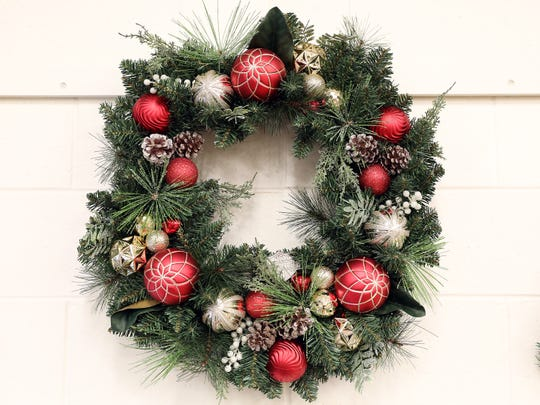 Holiday wreaths will be auctioned off to benefit Friends of the Palm Springs Animal Shelter and The LGBT Community Center of the Desert at Eight4Nine on Dec. 2, 2019.