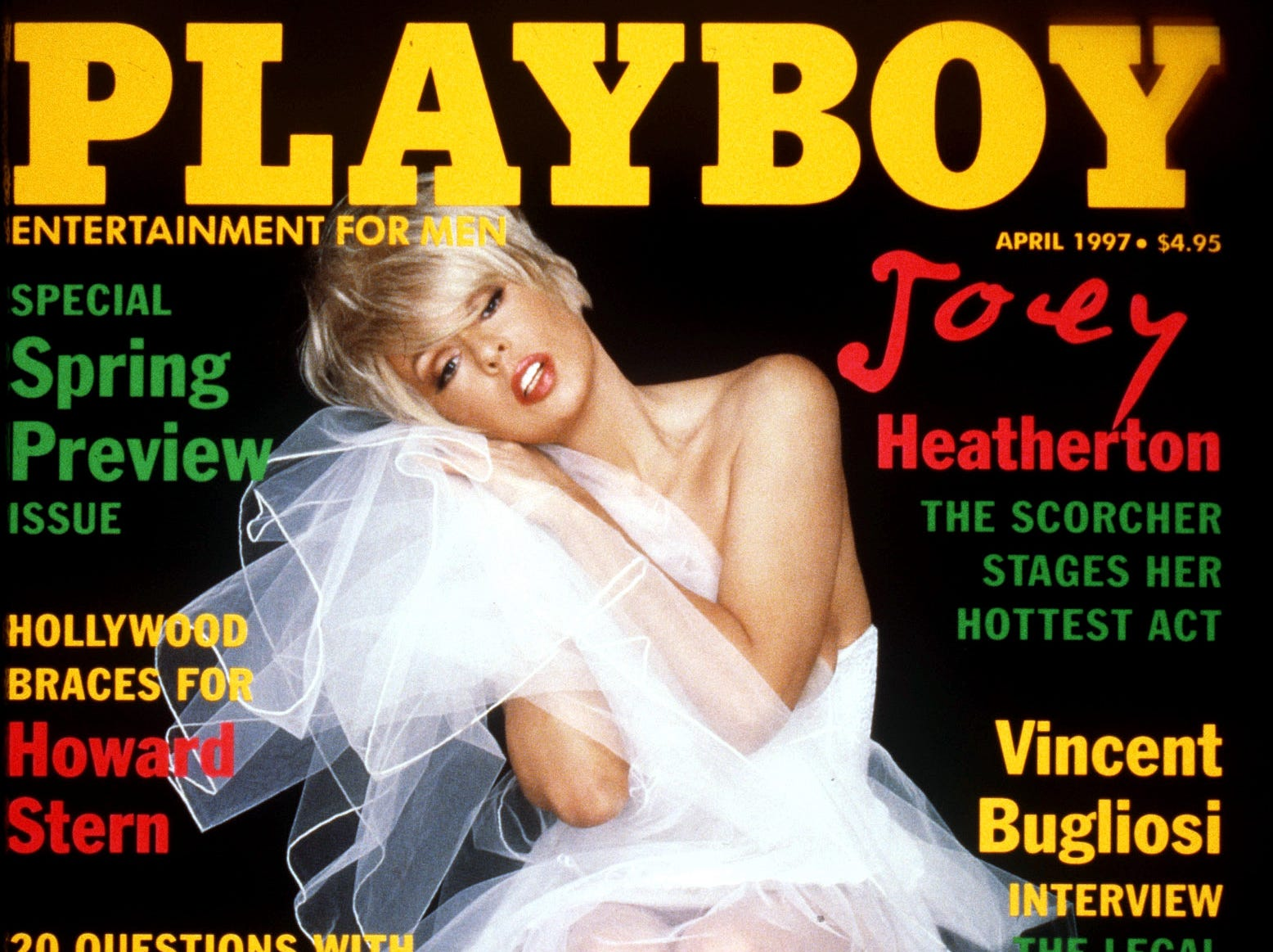 DATE TAKEN: 1997--- Joey Heatherton on the cover of Playboy magazine. ORG XMIT: UT41343