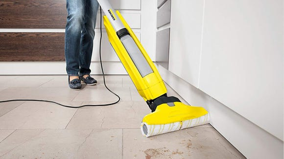 This floor cleaner mops and vacuums for easy post-holiday cleaning.