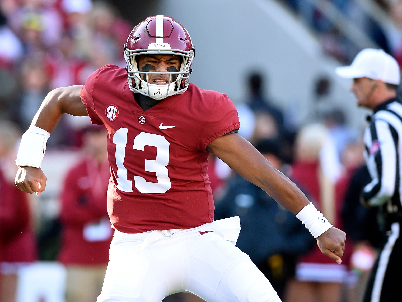 Alabama quarterback Tua Tagovailoa has thrown for 36 touchdowns this season.