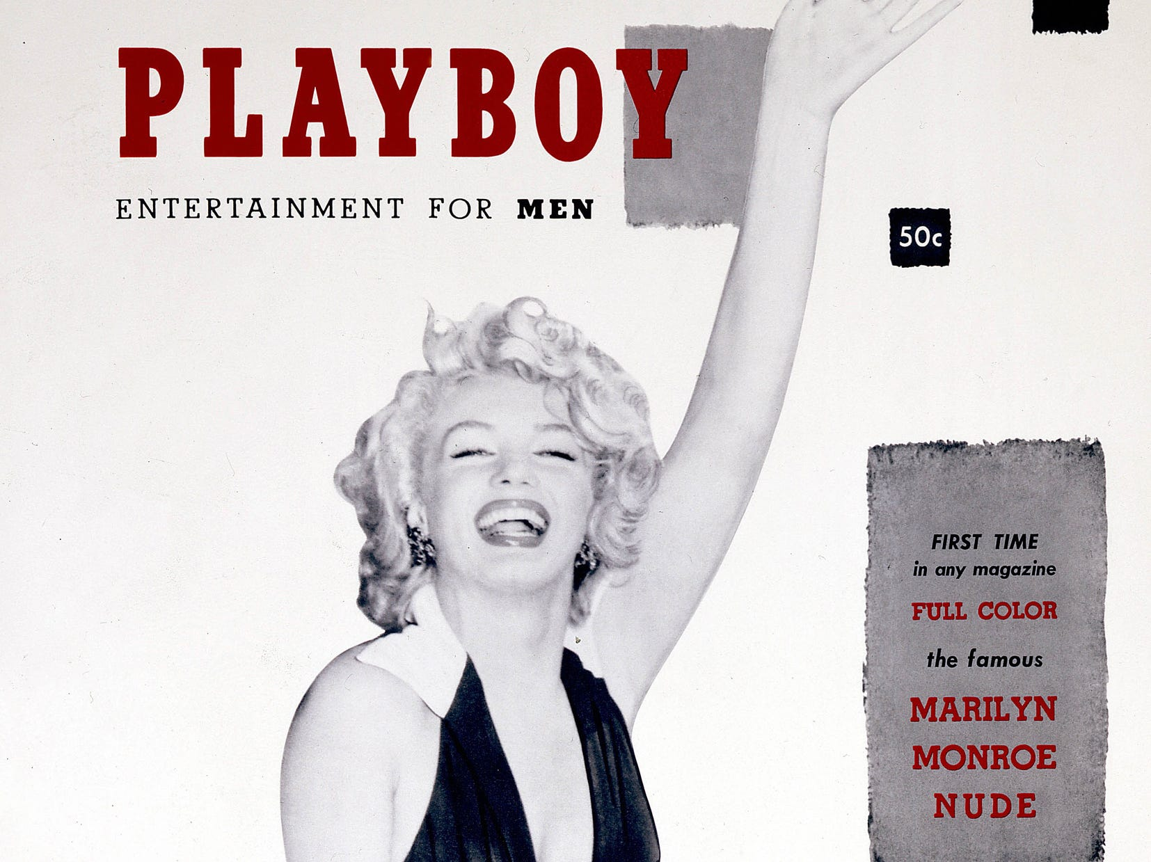 December 1953 cover for Playboy Magazine featuring Marilyn Monroe. --- DATE TAKEN: 2002     Playboy        HO      - handout ORG XMIT: PX81723