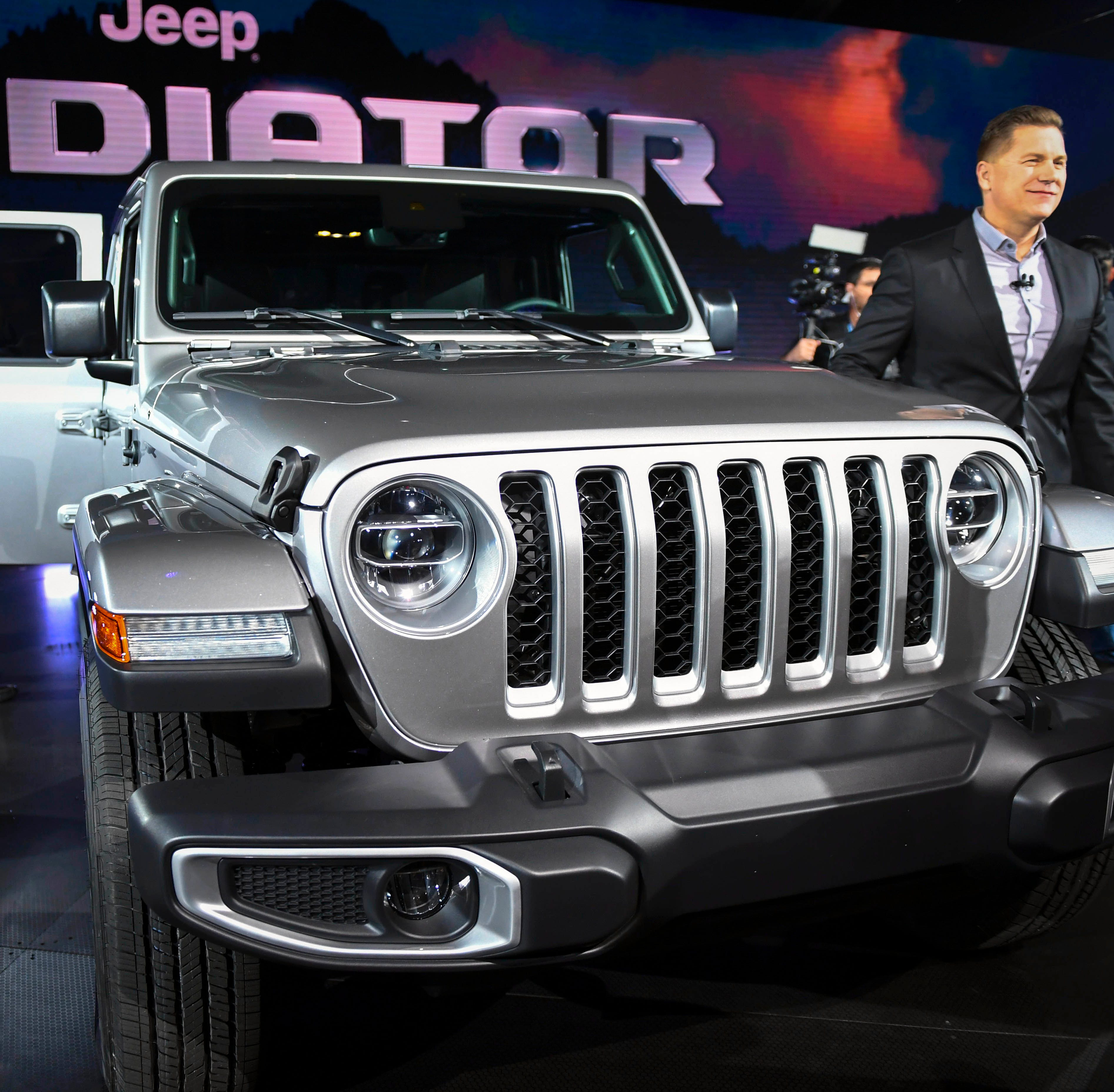 Tim Kuniskis, CEO of Jeep North America, at the unveiling of the new Jeep Gladiator truck during press preview day at Los Angeles Auto Show.