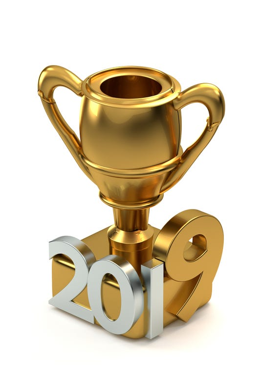 Golden Trophy 2019 3d Rendering