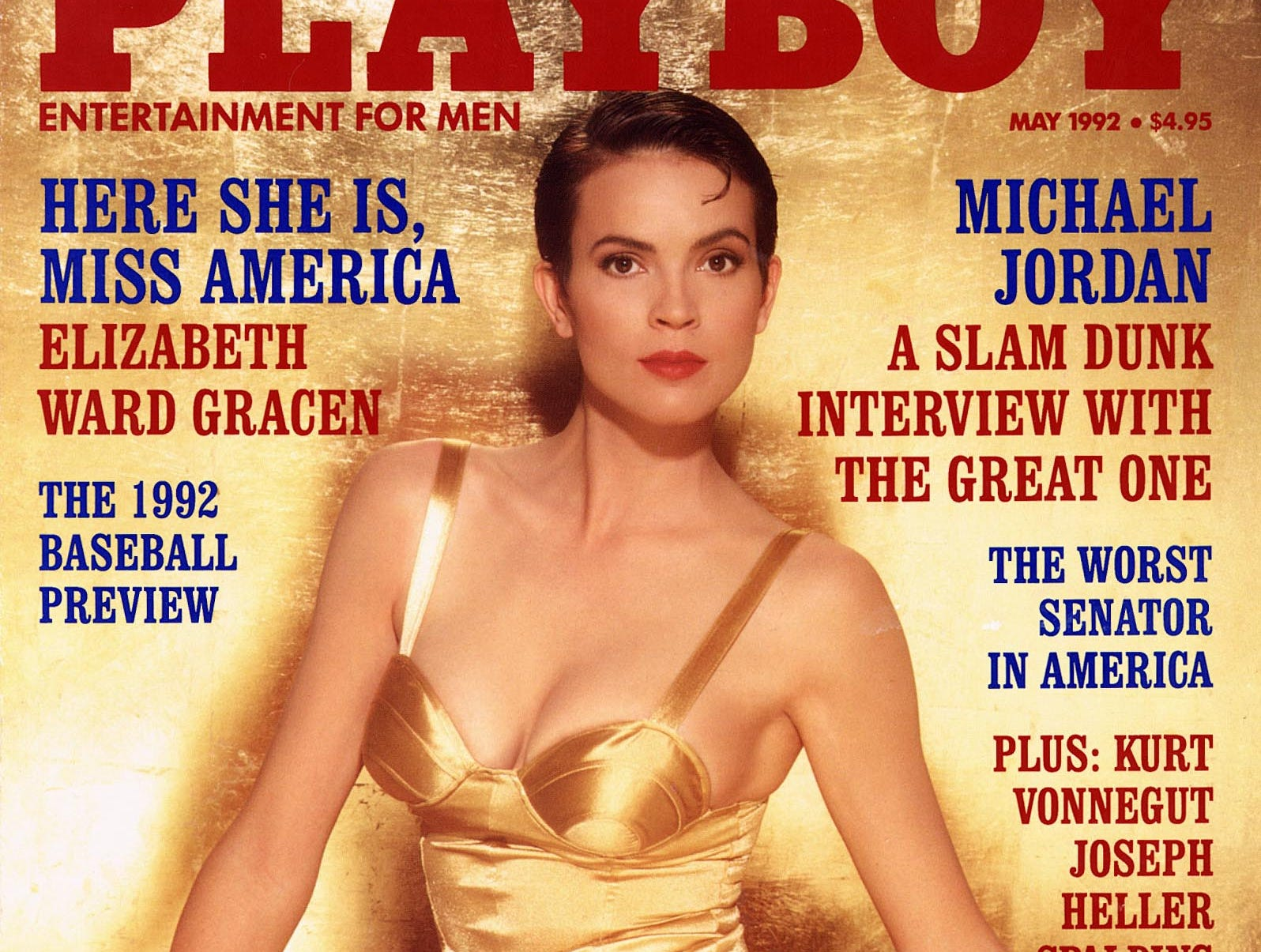 DATE TAKEN: Unavailable--- Playboy cover, 5/92, featuring Elizabeth Ward Gracen PHOTO MUST BE USED IN ITS ENTIRETY ORG XMIT: UT62559