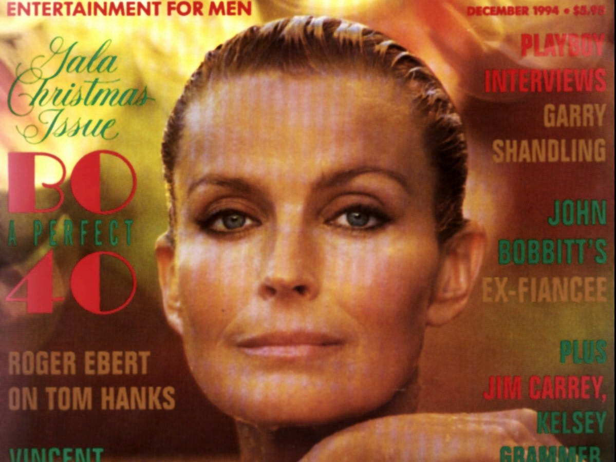 Bo Derek in Playboy,  perfect at age 40.