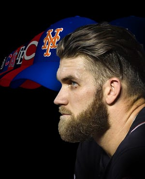 Bryce Harper turned down a $10-year, $300 million offer from the Nationals to test free agency.