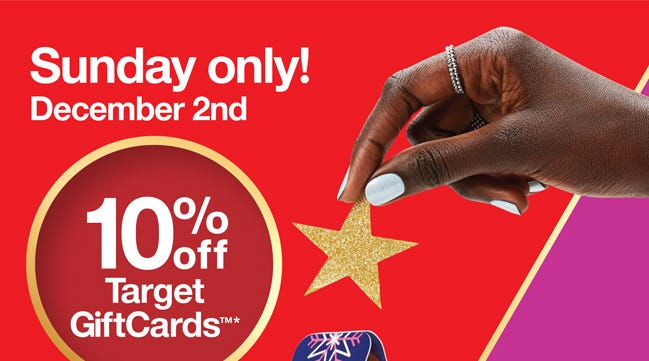 Target S Massive One Day Gift Card Sale Is Happening This Sunday Dec 2
