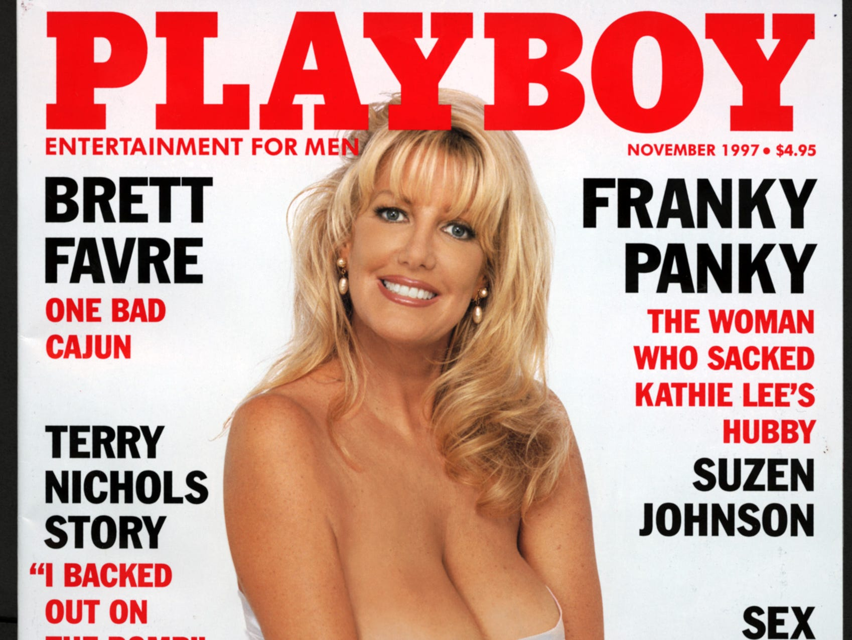 DATE TAKEN: Unavailable--- Cover of Playboy magazine with Suzen Johnson --November 1997 ORG XMIT: UT55050