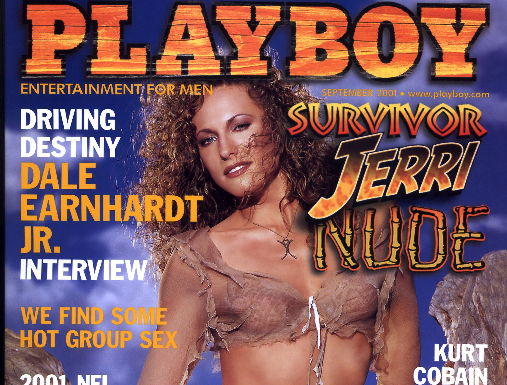 Jerri Manthey, from Outback Survivor, on the cover of the Sept. 2001 Playboy. --- DATE TAKEN: rec. 7/2001  No Byline   Playboy , Source: Playboy       HO      - handout ORG XMIT: PX52051