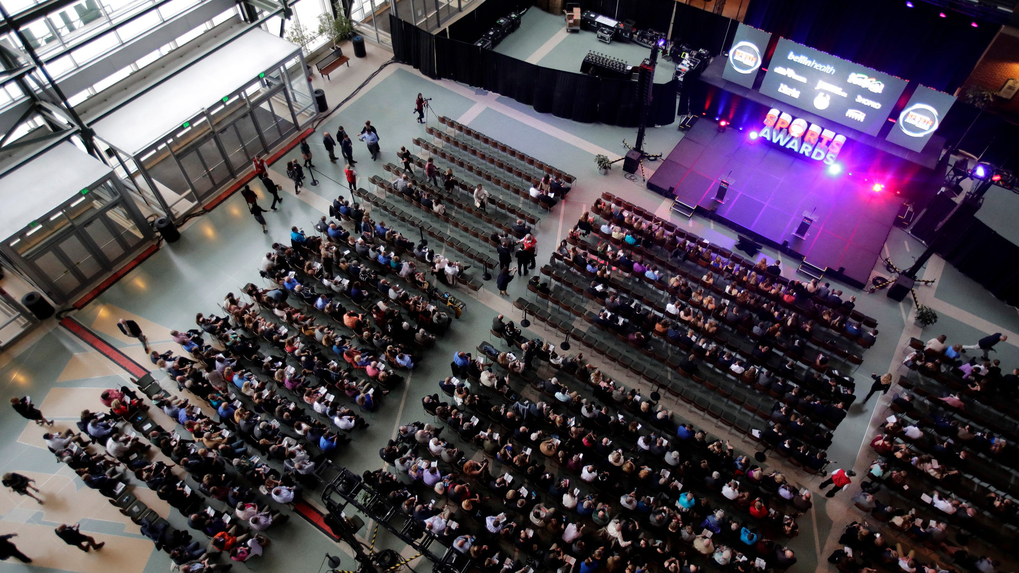 People gather inside the Lambeau Field Atrium in Green Bay for the 2018 Wisconsin High School Sports Awards show. The 2019 show will be held May 8 at the Fox Cities Performing Arts Center in Appleton.