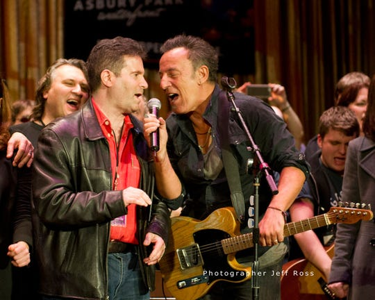 Bob Benjamin and Bruce Springsteen at the Light of Day in Asbury Park in 2015.
