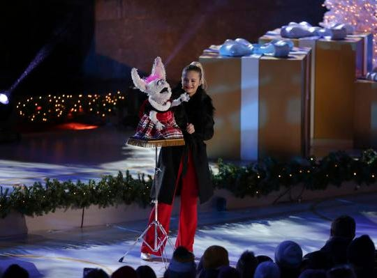 Darci Lynne Farmer performs onstage during the 86th annual Rockefeller Center Christmas Tree Lighting Ceremony on Wednesday, Nov. 28, 2018, in New York. (Photo by Brent N. Clarke/Invision/AP)