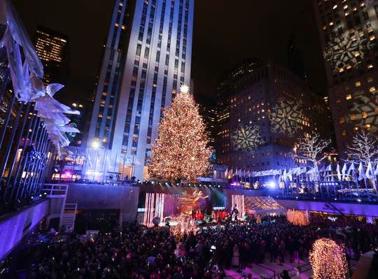 People attend the 86th annual Rockefeller Center Christmas Tree Lighting Ceremony on Wednesday, Nov. 28, 2018, in New York. (Photo by Brent N. Clarke/Invision/AP)