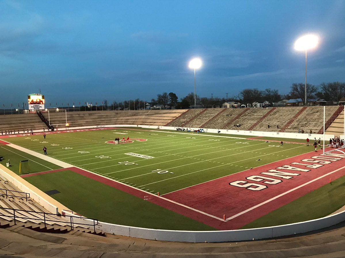 Mustang Bowl in Sweetwater is ready to host Eastland (9-3) and Shallowater (12-0) in a Region I-3A DI semifinal at 7 p.m. Thursday, Nov. 29, 2018.