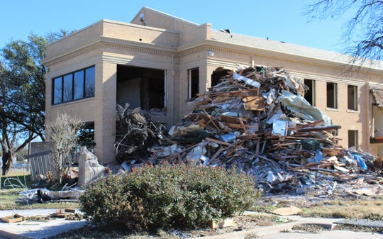 The interior of parts of the main building at Hendrick Home for Children has been gutted as part of a reconstruction project that began in September.