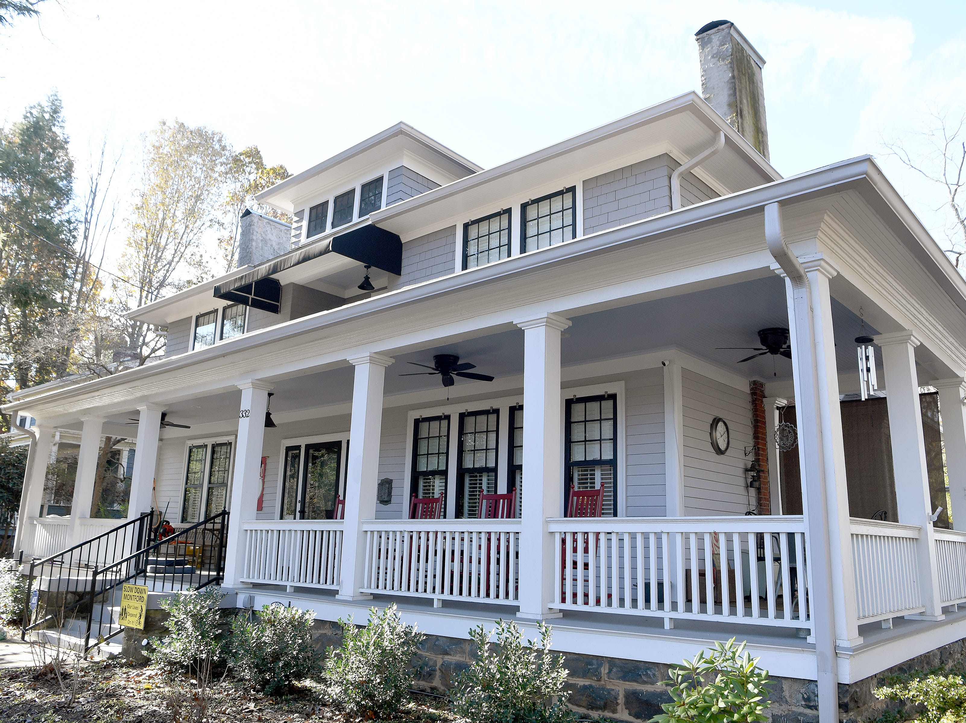 Linda and Marc Voorhees purchased an historic home in Montford built in 1912 and have transformed it bringing their favorite aspects of all of the houses they have lived in together.
