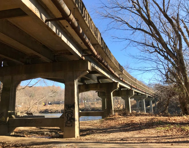 The 59-year-old Amboy Road Bridge is showing signs of age, but the North Carolina DOT says the concrete bridge remains structurally sound and passed an inspection in December 2018.