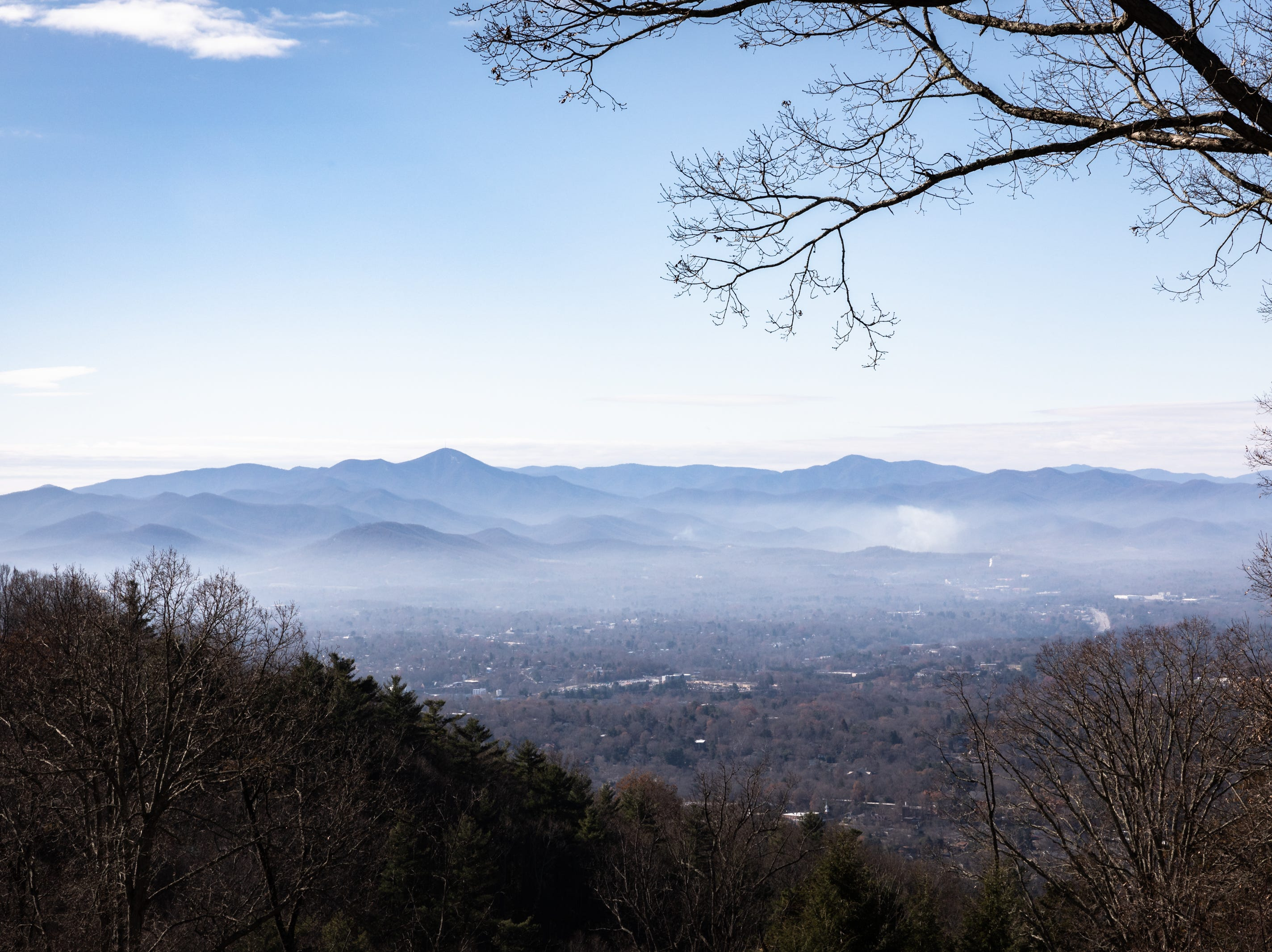 The view from the backyard of the Governor's Western Residence on Patton Mountain Road in Asheville, Nov. 29, 2018.