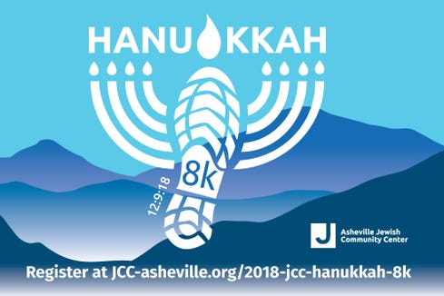 The Asheville JCC Hanukkah 8K is Dec. 9 in North Asheville.