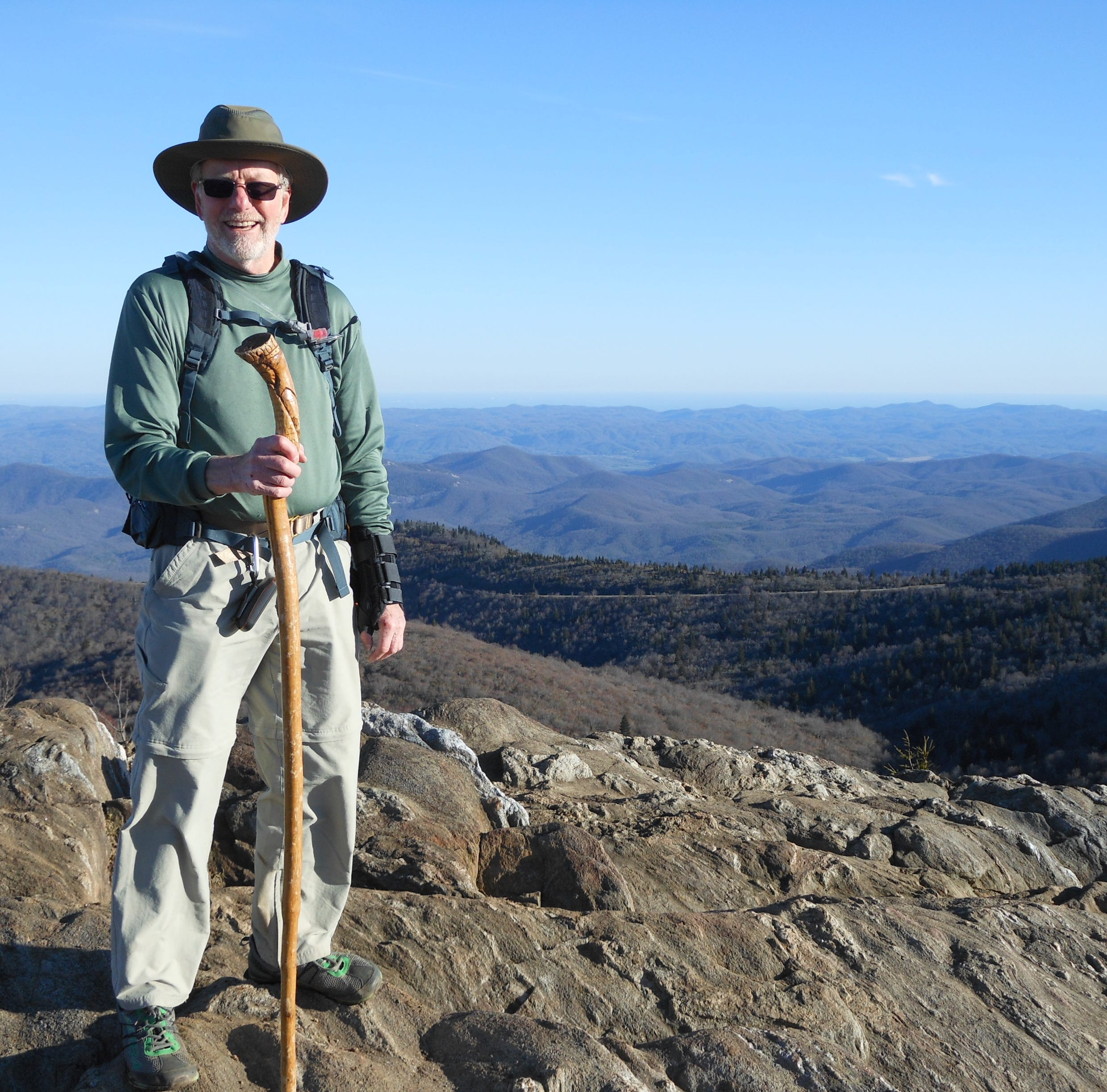 Asheville man gives Parkinson's the boot by climbing 40 WNC mountain peaks