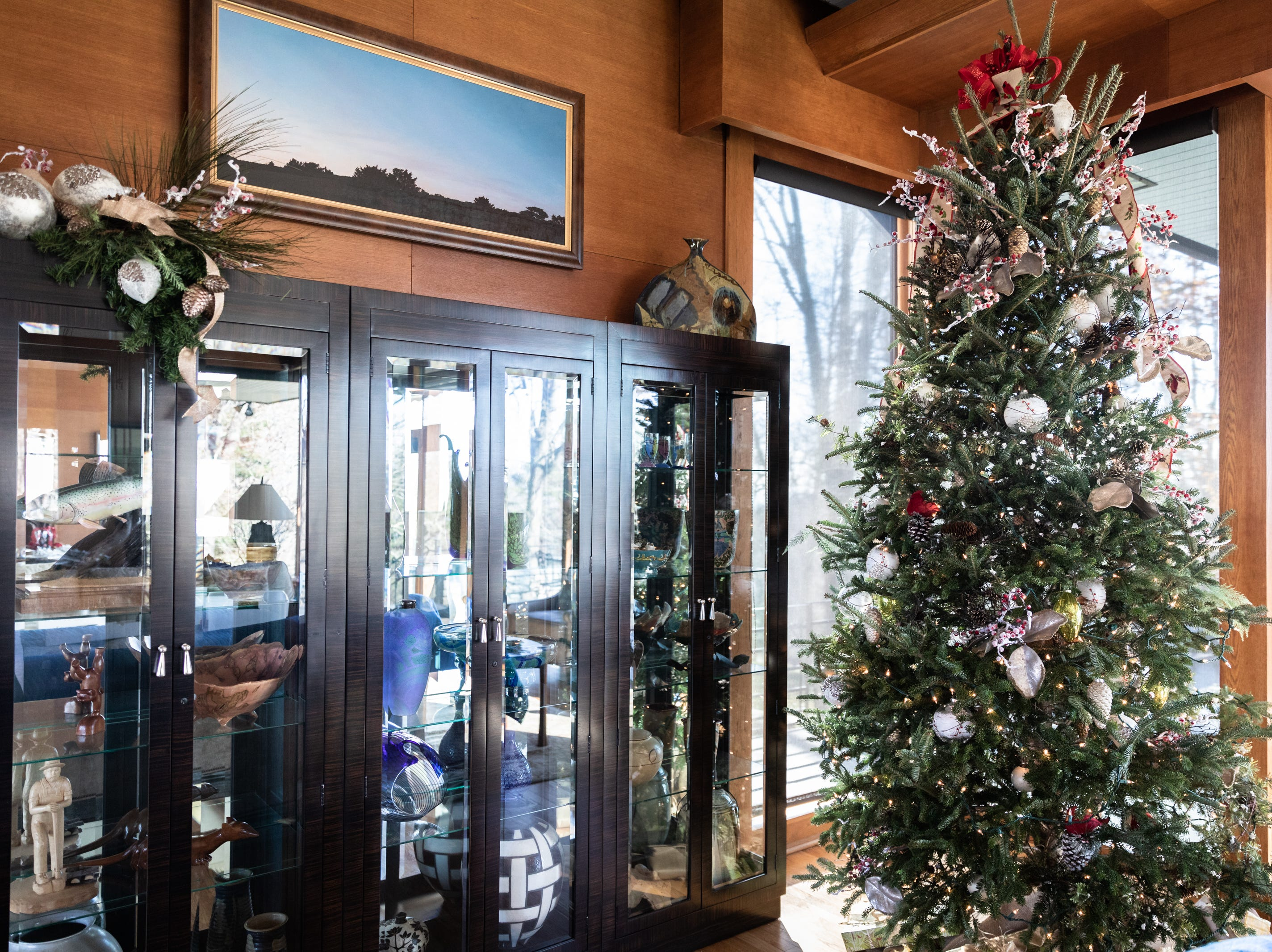 A Christmas tree in the Governor's Western Residence on Patton Mountain Road in Asheville.