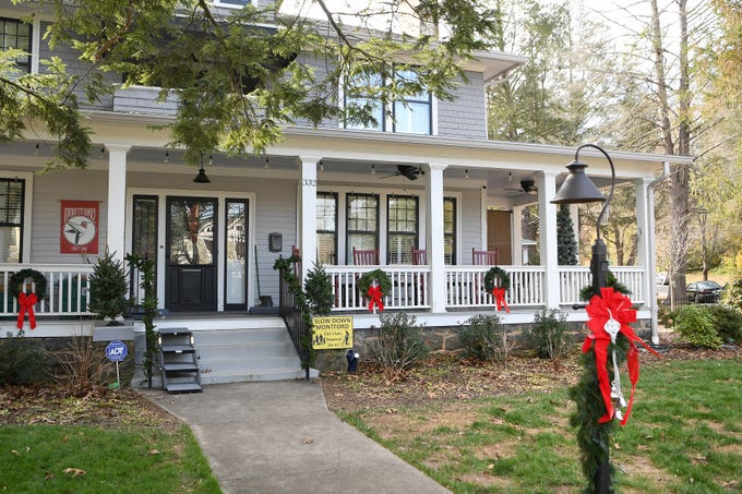 Linda and Marc Voorhees' 2300 square-foot historic Montford home will be featured on the Montford Holiday Tour of Homes.