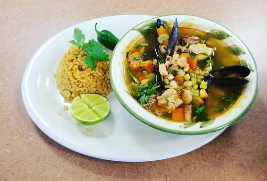 El Pulpo Mexican Restaurant & Grill's Seafood Soup, named Siete Mares, was so popular as a special that it became a permanent item on the menu.