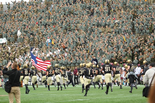 The thrill of playing at West Point. Darnell Woolfolk and Army defeated Colgate, 28-14, on Nov. 17.