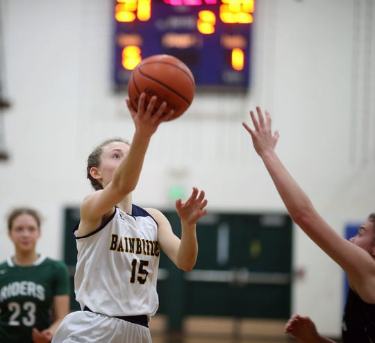 Bainbridge's Olivia Wikstrom led all West Sound girls basketbal players in scoring as a junior.