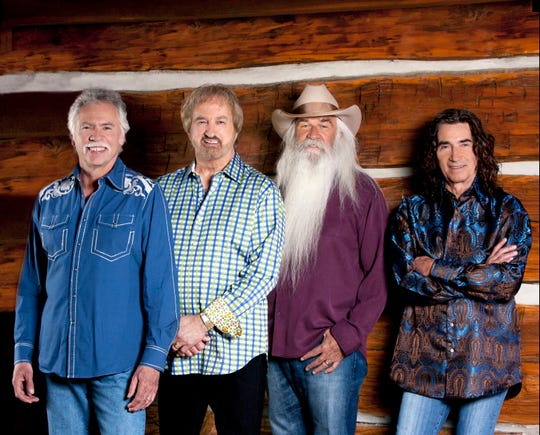 The Oak Ridge Boys (from left, Joe Bonsall, Duane Allen, William Lee Golden and Richard Sterban) are on the road for the 29th annual edition of their holiday concert tour.