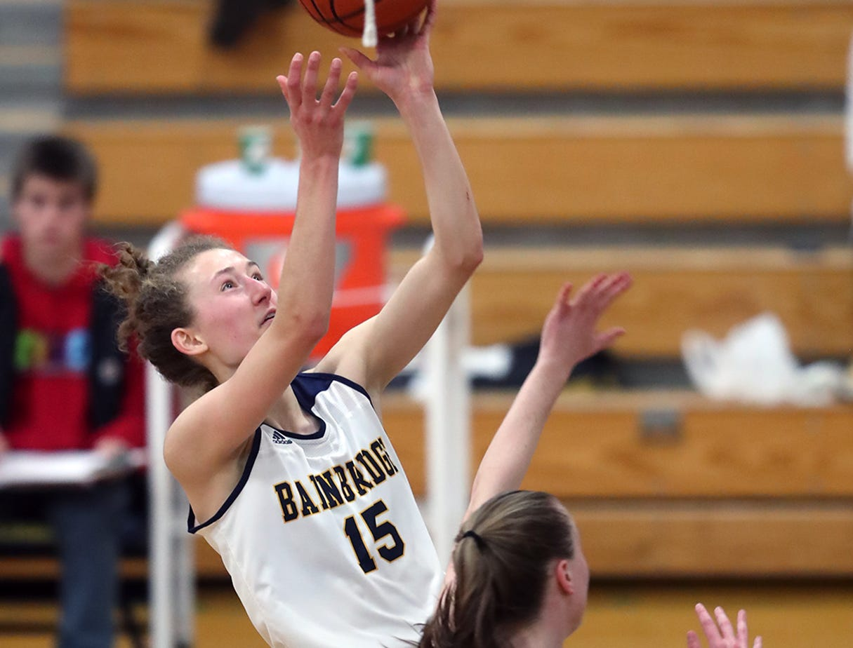 Olivia Wikstrom scored 29 points for Bainbridge in a 56-52 loss to Port Angeles on Wednesday, Nov. 28, 2018.