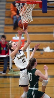 Olivia Wikstrom helped Bainbridge's girls basketball team reach the Class 3A SeaKing District tournament this winter.