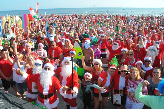 Surfing Santas Of Cocoa Beach