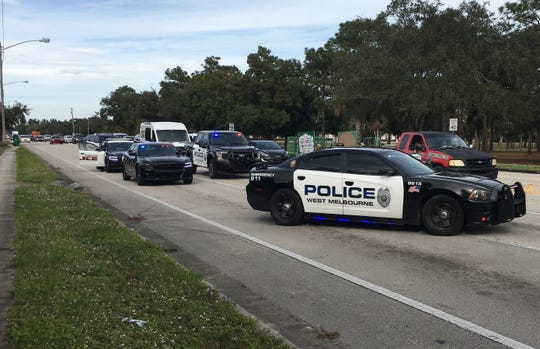 Police were investigating reports of a roadrage involving gunshots.