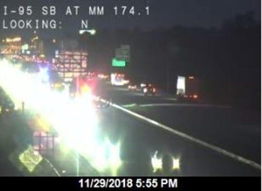 Traffic backed up on I-95