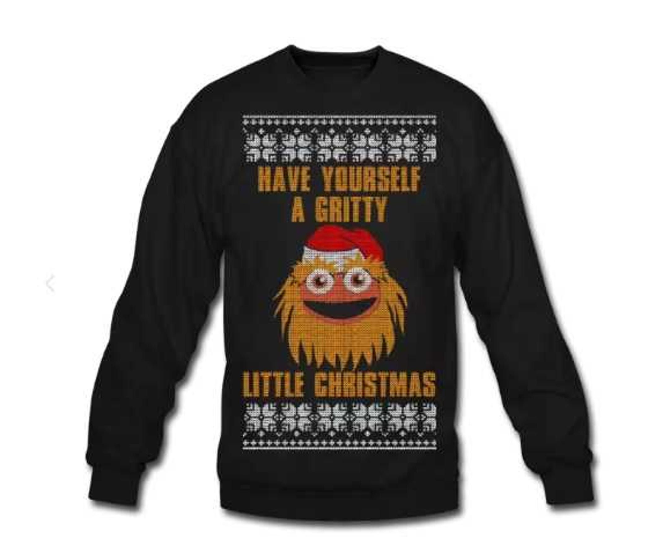 Get this Gritty Christmas sweater and a bunch of other Philly sports sweaters for the holidays at phlycity.com.